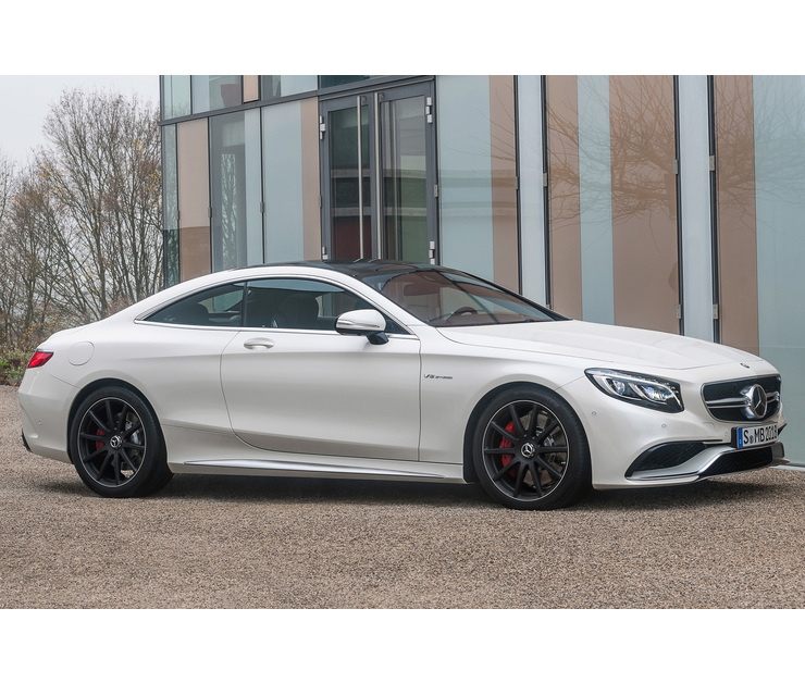Big 2015 mercedes benz s63 amg 4matic coupe side front view