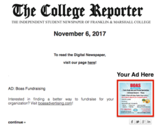 Thumb college reporter newsletter ad