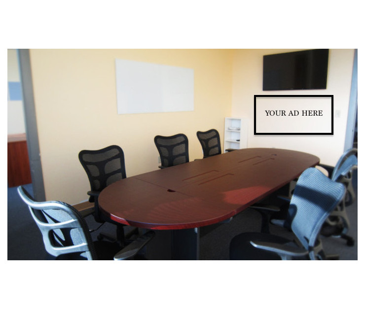 Big conference room ad space